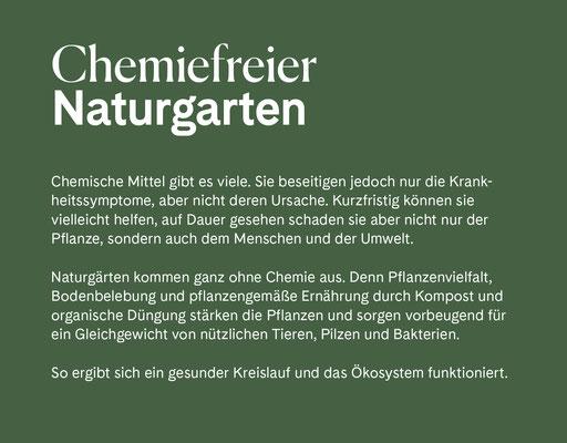 Wienss Innenausbau GmbH - Innenausbau, Objektbau, Museumsbau - hier: Gartenmuseum Lennestadt - www.wienss-innenausbau.de - Gartenalphabet C wie Chemiefrei
