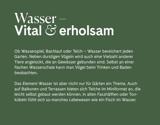 Wienss Innenausbau GmbH - Innenausbau, Objektbau, Museumsbau - hier: Gartenmuseum Lennestadt - www.wienss-innenausbau.de - Gartenalphabet W wie Wasser