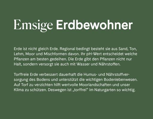 Wienss Innenausbau GmbH - Innenausbau, Objektbau, Museumsbau - hier: Gartenmuseum Lennestadt - www.wienss-innenausbau.de - Gartenalphabet E wie Erdbewohner