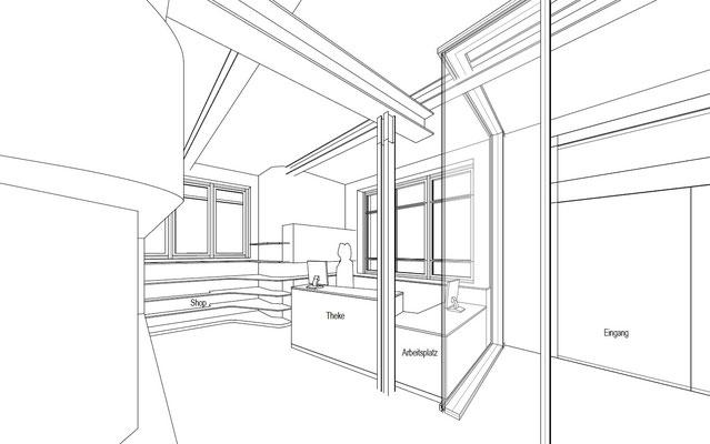 Wienss Innenausbau GmbH - Forscherfabrik Schorndorf - Innenausbau, Objektbau, Museumsbau Foyer + Kasse