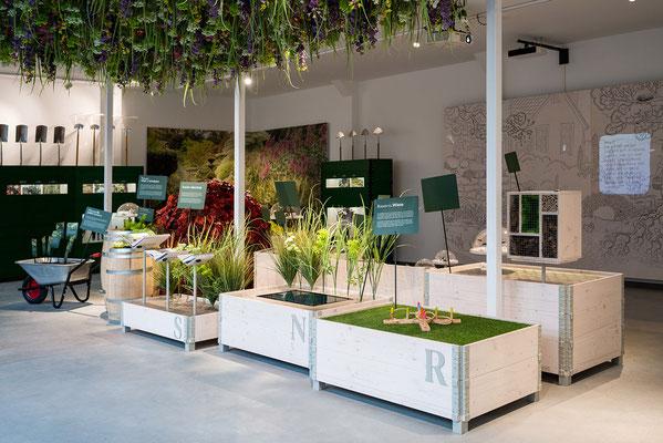 Wienss Innenausbau GmbH - Innenausbau, Objektbau, Museumsbau - hier: Gartenmuseum Lennestadt -www.wienss-innenausbau.de - Hochbeete Ansicht