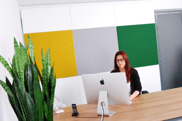 Wienss Innenausbau GmbH - Silenzio 4.0 von Leitex - akustisch wirksames modulares Trennwandsystem - Einsatz im Büro am Arbeitsplatz