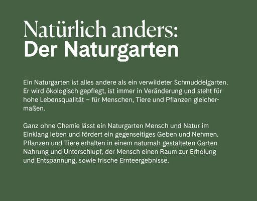 Wienss Innenausbau GmbH - Innenausbau, Objektbau, Museumsbau - hier: Gartenmuseum Lennestadt - www.wienss-innenausbau.de - Gartenalphabet N wie Naturgarten