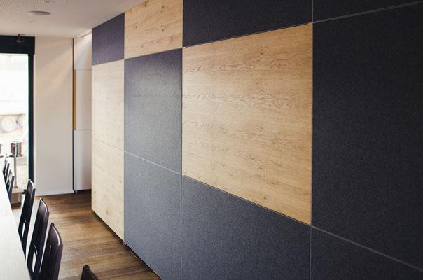Wienss Innenausbau GmbH - Silenzio 4.0 von Leitex - akustisch wirksames modulares Trennwandsystem - Einsatz im Büro - Trennwand