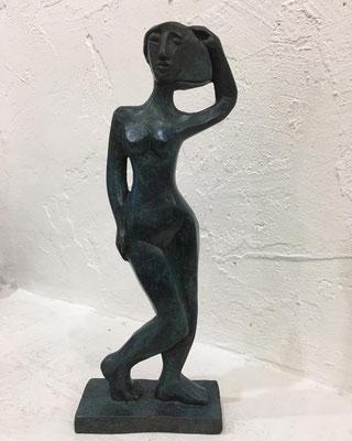 bronze patina blue