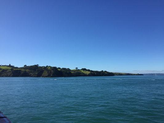 Anfahrt mit der Fähre zur Insel