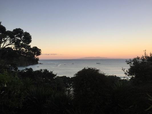 Sonnenuntergang auf Waiheke Island