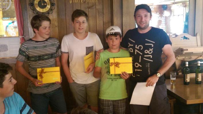 Die Gewinner der Jugendfischer