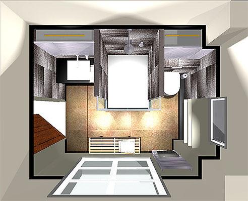salle d'eau Madame S. -  - 3D projet