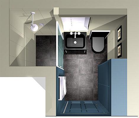 Salle d'eau Monsieur S. - 3D projet