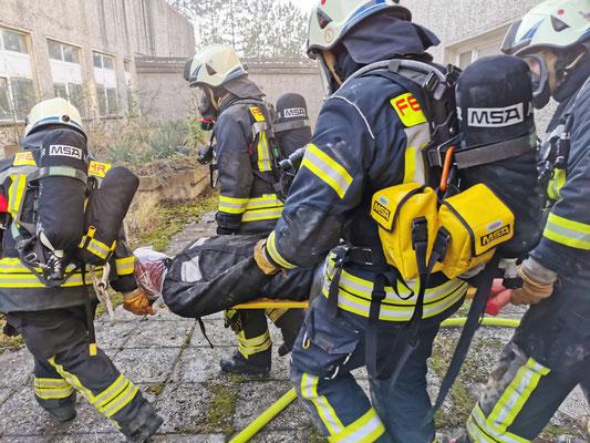 Übung Standardeinsatzregel Brandbekämpfung 11.2019