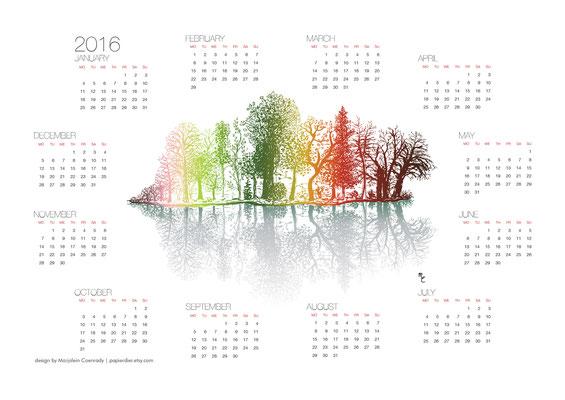 Kalender met illustratie