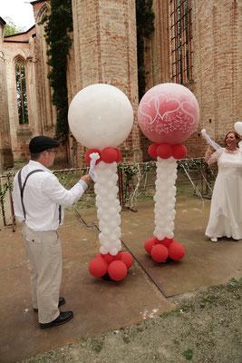 Mr. Balloni.ch, Hochzeit, Liebe,  Explosionsballon, Exploderballon, Ballonaufstieg