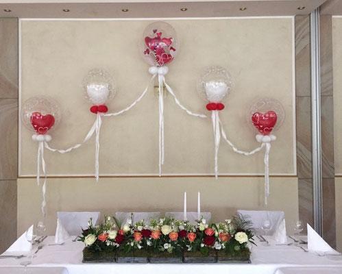 Mr. Balloni.ch, Hochzeit, Liebe,  Dekoration, Geschenk, Herzen, Valentinstag, Überraschung, Büffett