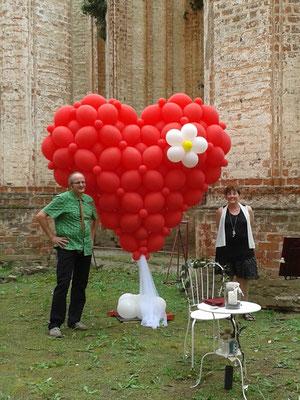Mr. Balloni.ch, Hochzeit, Liebe,  Herz, Jaqueline Nowak, Dekoration