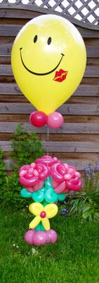 Mr. Balloni.ch,  Heliumballon, Helium,Geburtstag, Geschenk, Überraschung, Gutschein, Ballonblume
