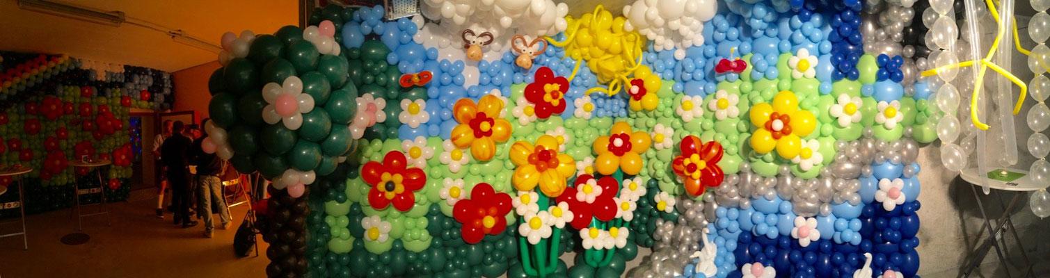 Mr. Balloni.ch, Ballonwand, Raumdeko, Ballonblumen, Dekorationen, Phantasie, Fantasie,Überraschung, Verwandlung
