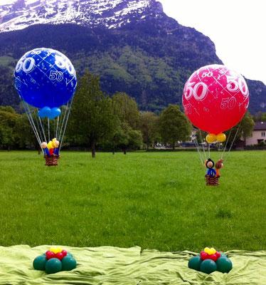 Mr. Balloni.ch, Heißluftballon, Heliumballon, Helium,Geburtstag, Geschenk, Überraschung, Gutschein