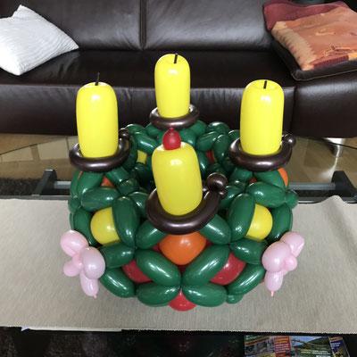 Adventskranz, Ballons, Weihnachten