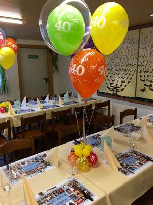 Mr. Balloni.ch, Dekoration, Tischdeko, Geburtstag, Jubiläum