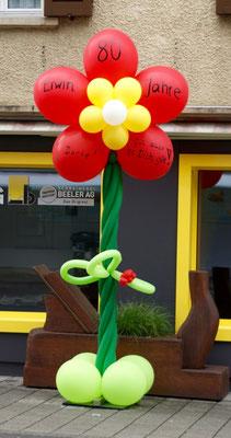 Mr. Balloni.ch, Ballonblume, Dekoration, Geschenk, Geburtstag, Überraschung