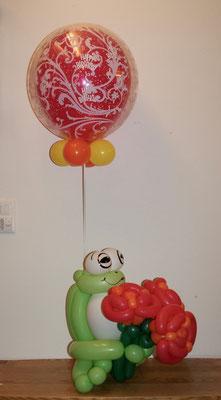 Mr. Balloni.ch, Frosch, Heliumballon, Helium,Geburtstag, Geschenk, Überraschung, Gutschein
