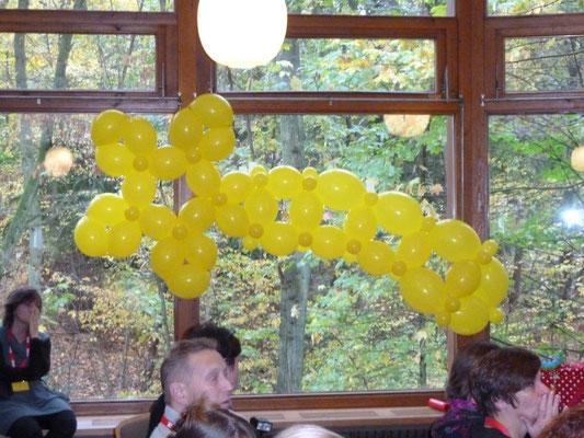 Weihnachtsstern, Dekoration, Ballons