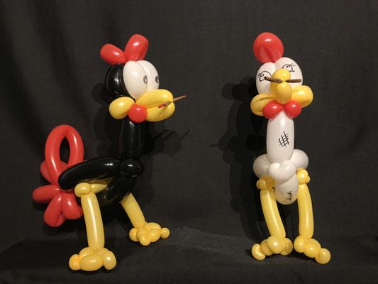 Ballon Huhn und Hahn