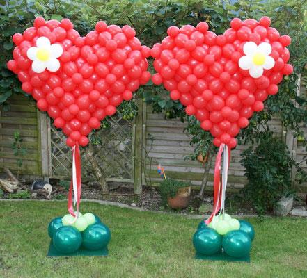 Mr. Balloni.ch, Hochzeit, Liebe,  Ballonherz, Dekoration, Geschenk, Herzen, Valentinstag, Überraschung