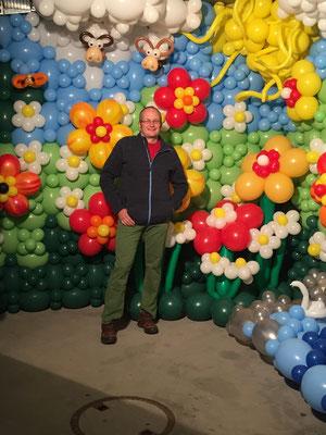 Mr. Balloni.ch, Ballonwand, Raumdeko, Ballonblumen, Dekorationen,Phantasie, Fantasie, Überraschung, Verwandlung