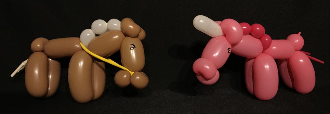 Ballon Einhorn & Pferd