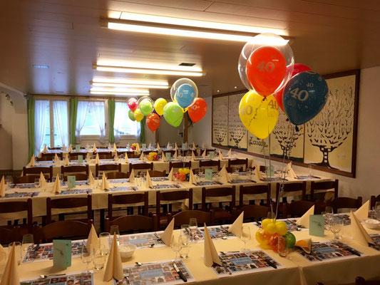 Mr. Balloni.ch,  Heliumballon, Helium,Geburtstag, Geschenk, Überraschung, Tischdeko, Raumdeko
