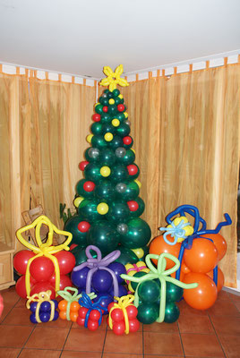Weihnachtsbaum, Ballongeschenk, Geschenke