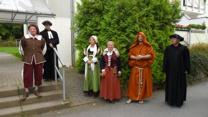 Der Stadtschreiber informiert über die Rolle der Schönburger