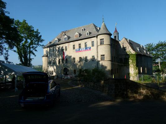 Das Schloss selbst war leider eine Baustelle.