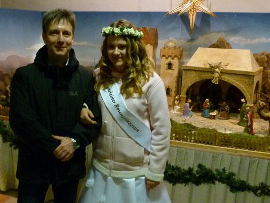 Bürgermeister und Rosenprinzessin am Weihnachtsberg