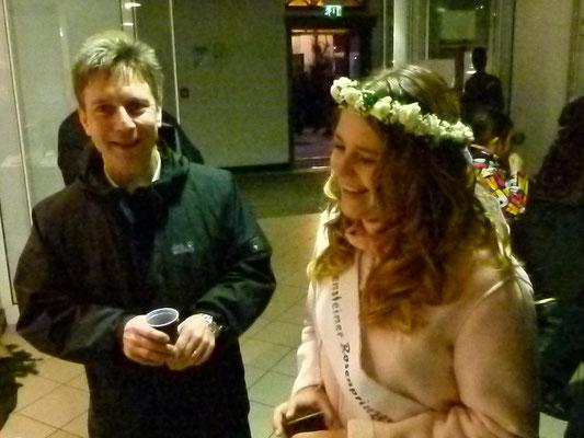 Bürgermeister und Rosenprinzessin