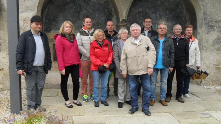 Gruppenfoto am Clarissenkloster