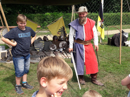 Unterricht beim Schwertkämpfer