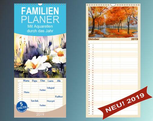 Aquarellkalender 2019