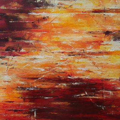 Abstrakt in Rot (Verkauft)