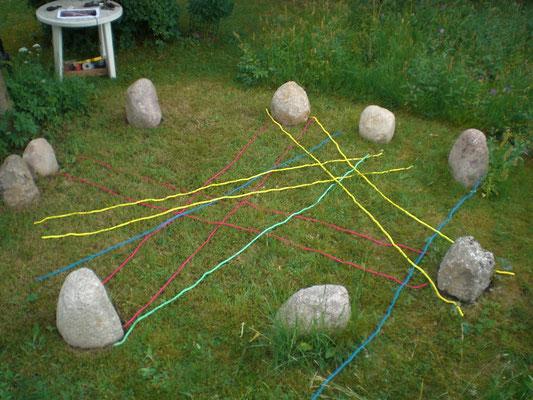 Gitternetze aufgelegt