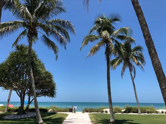 Naples ist eine Stadt am Golf von Mexiko im Südwesten von Florida, die für exklusive Geschäfte und Golfplätze bekannt ist