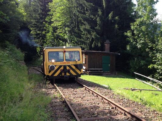 Befahrung mit Draisine von Bhf Erzberg bis km 4 (unmittelbar vor Kressenberg-Tunnel)