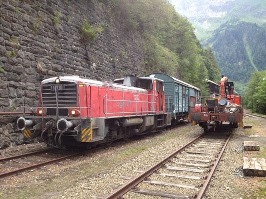 603.10 samt Bremswagen am Bhf. Erzberg