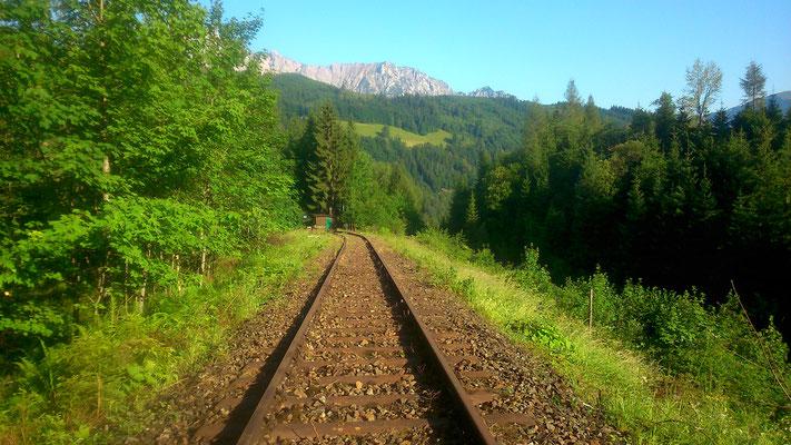 Blick Richtung Schutzhütte bei km 4,08