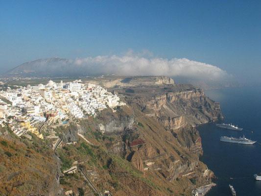 Fira, der Hauptort der Insel