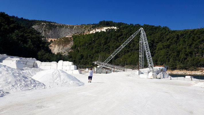 Marmorverladung Porto Vathy