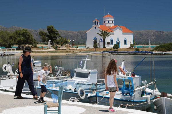 Hauptort der Insel: Elafonisos