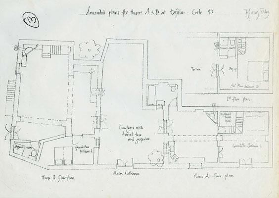Grundriss beider Häuser